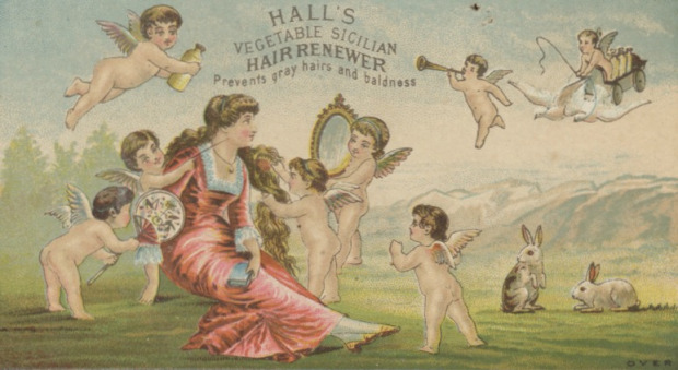 Hall's Vegetable Sicilian Hair Renewer, 19th Century Advertisement.