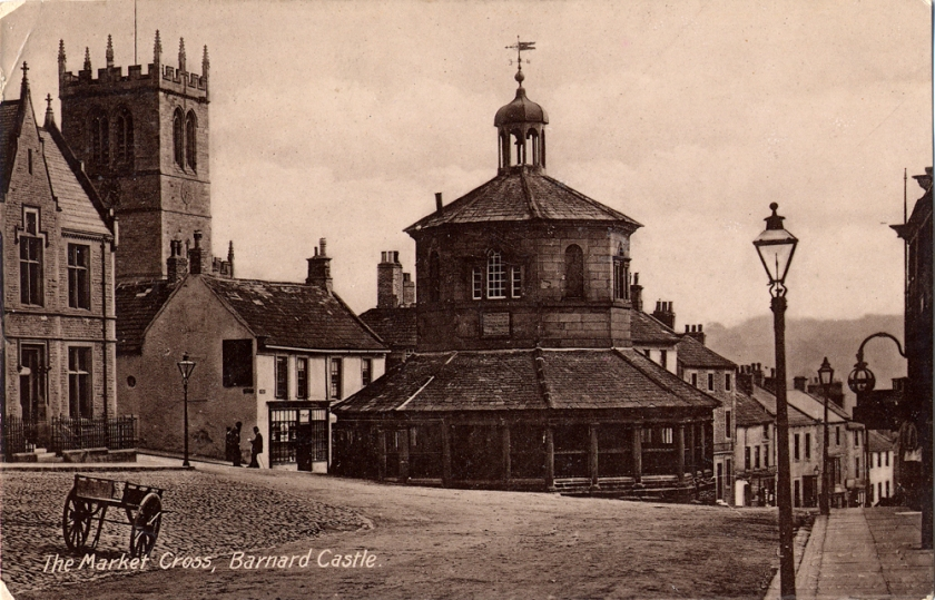 PC The Market Cross Barnard Castle L