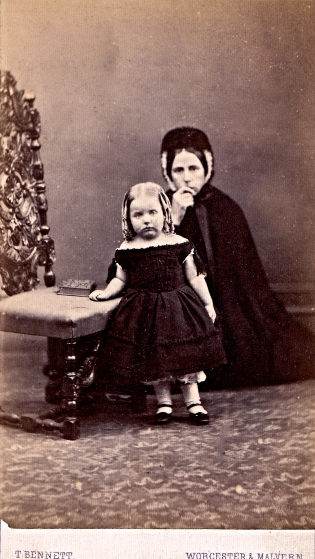 Widow And Orphan Albumen Carte De Visite Circa 1868 Ann Longmore Etheridge Collection
