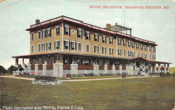 Hotel-Braddock-Braddock-Heights-Maryland-Postcard